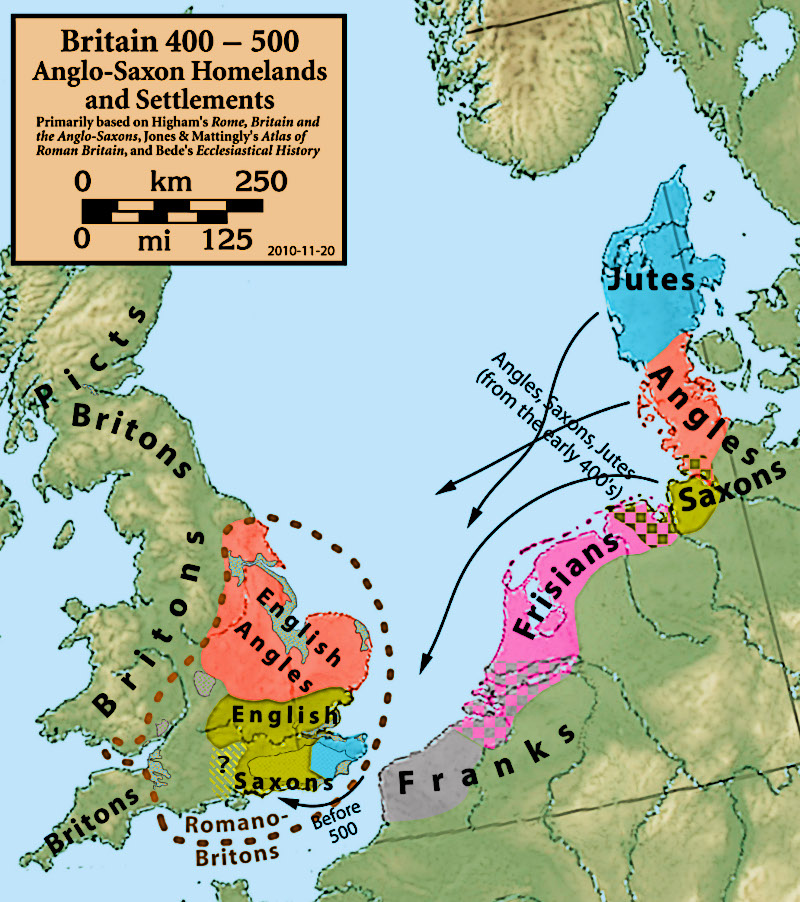 Anglo Saxon Settlements Map