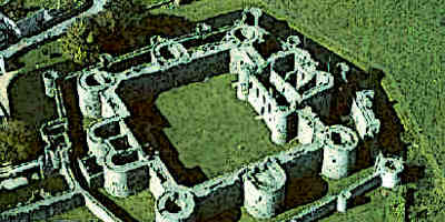 Medieval Concentric Castle From Above