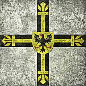 Teutonic Knights Grunge Flag