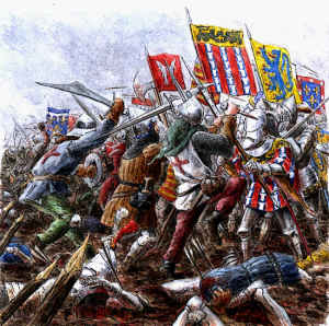 Knights and Foot soldiers Battle of Agincourt