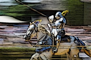 The White Knight Jousting