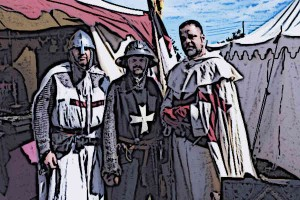 Medieval-Knights-Templar-Wearing-Surcoats