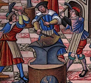 Medieval Armourers in medieval times